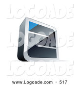 September 15th, 2013: Logo of a 3d Chrome Maze with a Blue Triangle at the End by Beboy