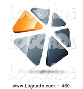 Logo of a 3d Circle of Orange and Silver Triangles by Beboy