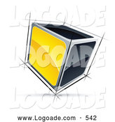 Logo of a 3d Cube with Yellow and Black Sides by Beboy