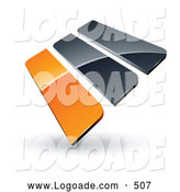 September 4th, 2013: Logo of a 3d Pre-Made Logo of Orange and Gray Bars by Beboy