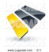 September 9th, 2013: Logo of a 3d Pre-Made Logo of Yellow and Gray Bars by Beboy
