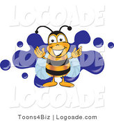 Logo of a Bee and Blue Splat by Toons4Biz