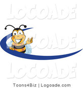 Logo of a Bee with a Blue Dash by Toons4Biz