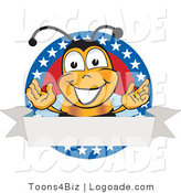Logo of a Bee with a Star Label by Toons4Biz