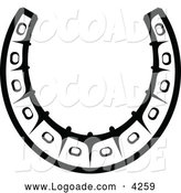 Logo of a Black and White Horseshoe Logo by Vector Tradition SM