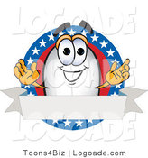 Logo of a Blimp with Stars and a Blank Ribbon by Toons4Biz