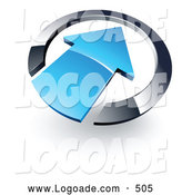 September 2nd, 2013: Logo of a Blue Arrow Pointing Inwards in a Blue Circle on White by Beboy