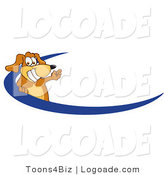 Logo of a Brown Dog Swoosh by Toons4Biz