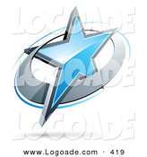Logo of a Centered Blue Star in a Chrome Circle, Above Space for a Business Name and Company Slogan by Beboy