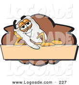 Logo of a Cheerful Tooth Mascot Cartoon Character on a Blank Tan and Brown Label by Toons4Biz