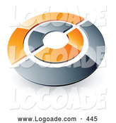 Logo of a Chrome and Orange Target or Circles Above Space for a Business Name and Company Slogan over White by Beboy