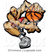 Logo of a Dribbling Demonic Basketballer by Chromaco