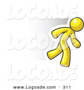 Logo of a Fast Yellow Business Man Running by Leo Blanchette