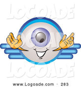 Logo of a Friendly Eyeball Mascot Cartoon Character on a Business Logo by Toons4Biz