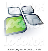 May 19th, 2013: Logo of a Green Shining Square or Petal Standing out from Gray Ones by Beboy
