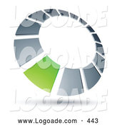 June 27th, 2013: Logo of a Green Square Completing a Chrome Dial, Above Space for a Business Name and Company Slogan by Beboy