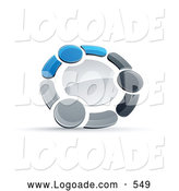 Logo of a Group Of, Circle of Three Blue, Gray and Black People Holding Hands by Beboy