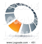 Logo of a Orange Square Set in a Chrome Dial, Above Space for a Business Name and Company Slogan by Beboy