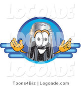 Logo of a Pepper Shaker Mascot Cartoon Character Logo with a Blue Line Design by Toons4Biz