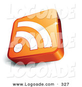 February 2nd, 2013: Logo of a Pre-Made Logo of an Orange and White RSS Cube over a Space for a Business Name and Company Slogan on White by Beboy