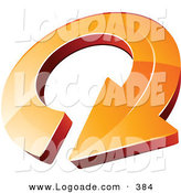 Logo of a Pre-Made Logo of an Orange Circling Arrow by Beboy