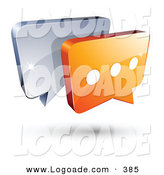 Logo of a Pre-Made Logo of Chrome and Orange Chat Windows Above Space for a Business Name and Company Slogan by Beboy