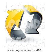 August 21st, 2013: Logo of a Pre-Made Logo of Two Circling 3d Yellow Arrows by Beboy