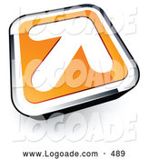 Logo of a Pretty White Arrow on an Orange and Chrome Button by Beboy
