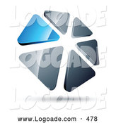 Logo of a Ring of Blue and Silver Triangles by Beboy