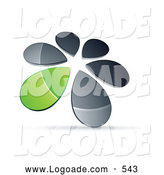 October 12nd, 2013: Logo of a Ring or Circle of Chrome and Green Droplets Forming a Windmill by Beboy