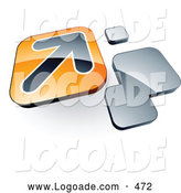 Logo of a Shiny Arrow on an Orange Box near Orange Squares by Beboy