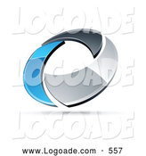 Logo of a Shiny Chrome and Blue Circling Ring by Beboy
