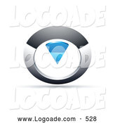 Logo of a Silver and Chrome and Blue Circular Knob by Beboy