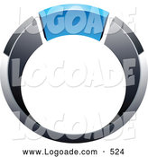 Logo of a Silver and Chrome and Blue Ring by Beboy