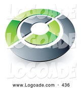 June 20th, 2013: Logo of a Silver and Green Target or Circles Above Space for a Business Name and Company Slogan by Beboy
