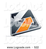 Logo of a Silver and Orange Diamond with Arrows by Beboy