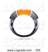Logo of a Silver and Orange Ring by Beboy