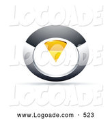 September 21st, 2013: Logo of a Silver and Yellow Circular Knob by Beboy