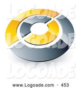 Logo of a Silver and Yellow Target or Circles Above Space for a Business Name and Company Slogan by Beboy