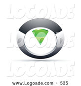 Logo of a Silver or Chrome and Green Circular Knob by Beboy