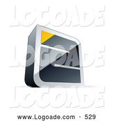 Logo of a Silver or Chrome Maze with a Yellow Triangle at the End by Beboy