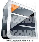Logo of a Silver or Chrome Maze with an Orange Triangle at the End by Beboy