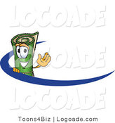Logo of a Smiling Green Carpet Mascot Cartoon Character Logo by Toons4Biz
