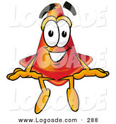 Logo of a Smiling Happy Traffic Cone Mascot Cartoon Character Sitting by Toons4Biz