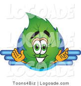 Logo of a Spring Leaf Mascot Cartoon Character Logo with Blue Wing Designs by Toons4Biz