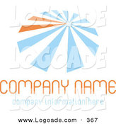 Logo of a Stock Company Logo of Blue and Orange Lines Resembling an Umbrella, over Space for a Company Name and Information by KJ Pargeter