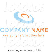 Logo of a Stock Logo of an Orange and Blue Disc Above Space for a Business Name and Information by KJ Pargeter
