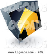June 19th, 2013: Logo of a Yellow Arrow Pointing up on a Tilted Black Cube, Above Space for a Business Name and Company Slogan by Beboy
