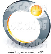 Logo of a Yellow Ball Set in a Chrome Ring, Above Space for a Business Name and Company Slogan by Beboy