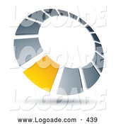 Logo of a Yellow Square in a Chrome Dial, Above Space for a Business Name and Company Slogan, on White by Beboy